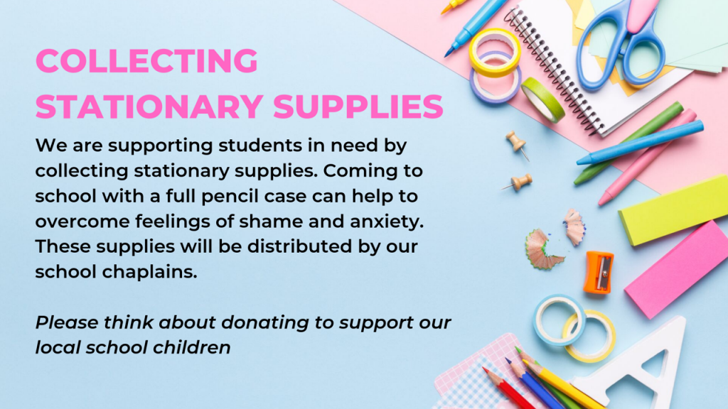 Help us provide stationary supplies for students at our local schools.